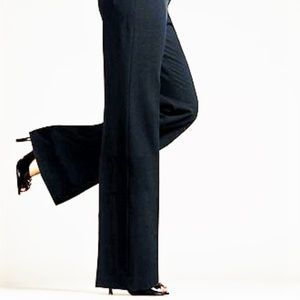 The Limited  Mid Rise Black Dress Pants Flared